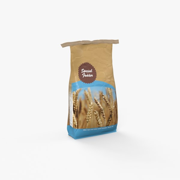 3D model sack containing feed