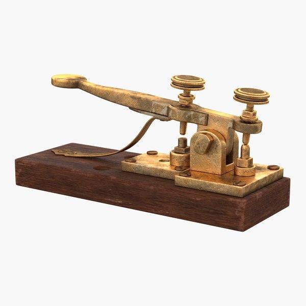 vintage telegraph device 3D model