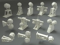 12 military lamps model