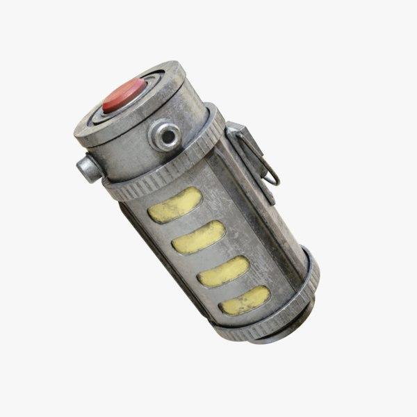 lightwave flash grenade 3D model