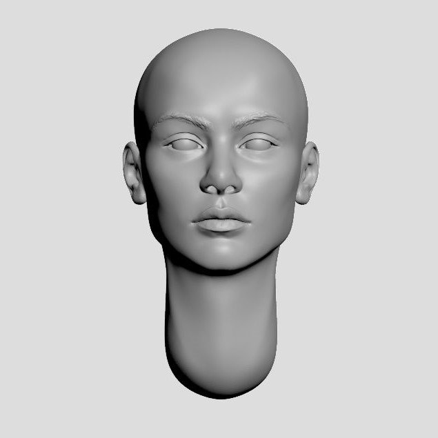 3D nation heads model
