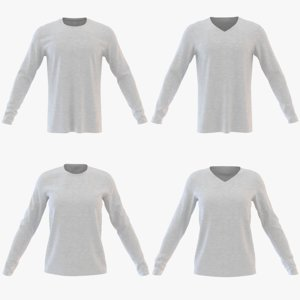 3D sweatshirt men model