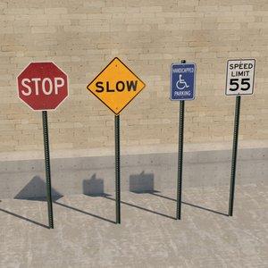 street sign 3D