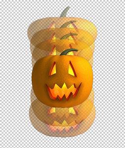 fun bouncing halloween pumpkin 3D