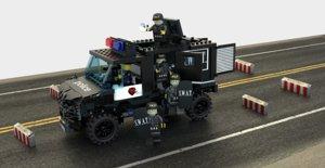 3D swat van officer t