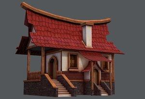 house cartoon v07 3D model