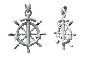 3D model jewelry pendant steering wheel