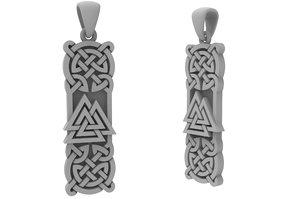 jewelry pendant valknut viking 3D model