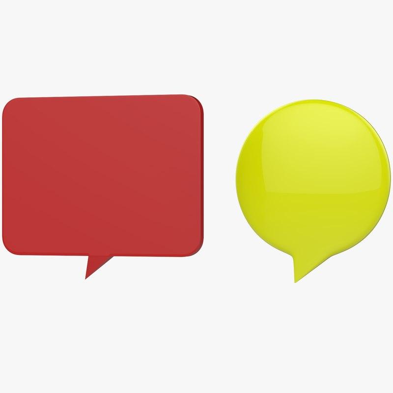 3D conversation think icons