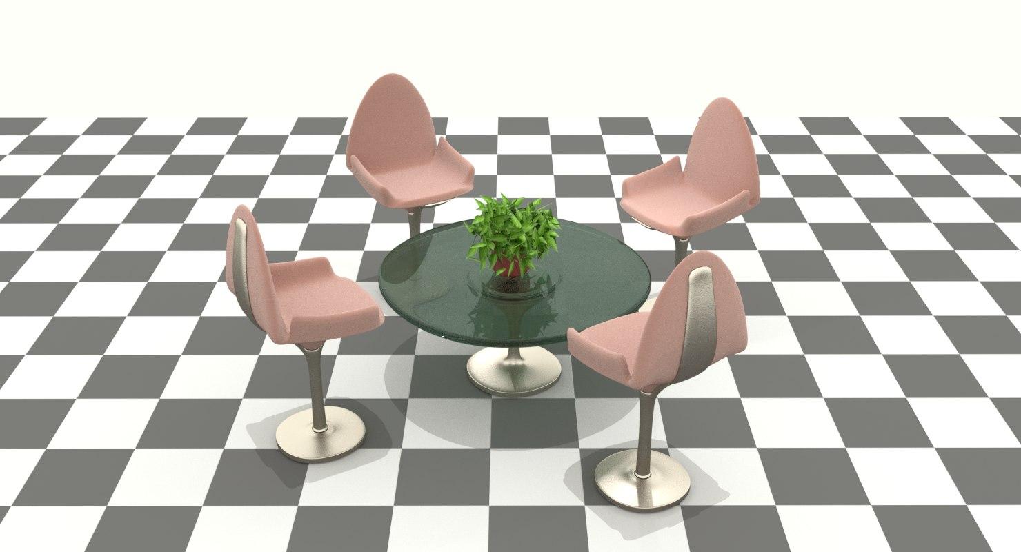 urban design chairs table 3D