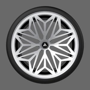 3D snowflake unique wheel cars