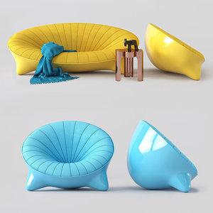 3D sofa noun alexandre boucher model