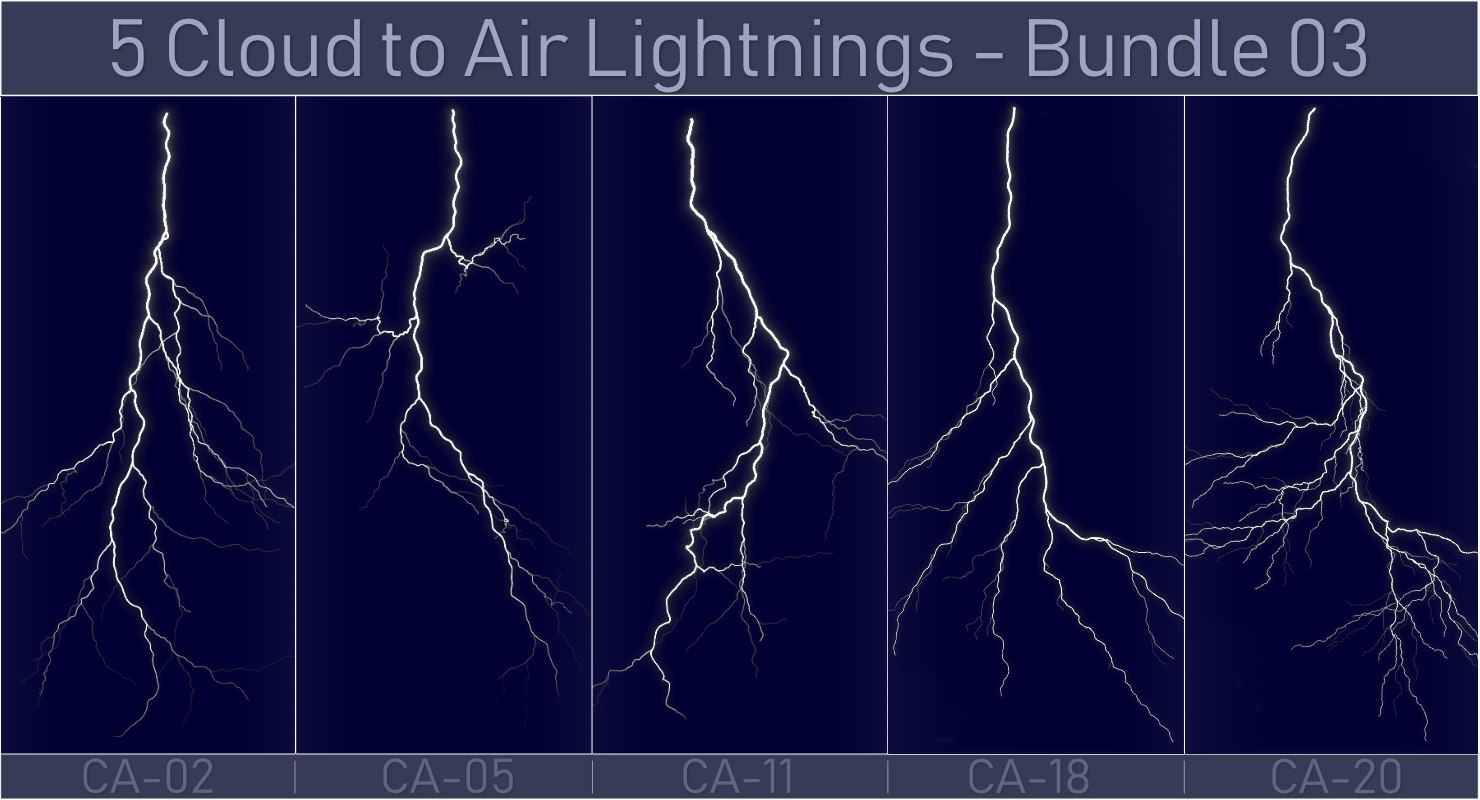 pack 5 lightnings - 3D model