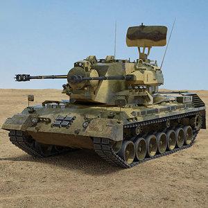 flakpanzer gepard 3D model