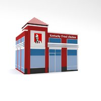 kfc building polys model