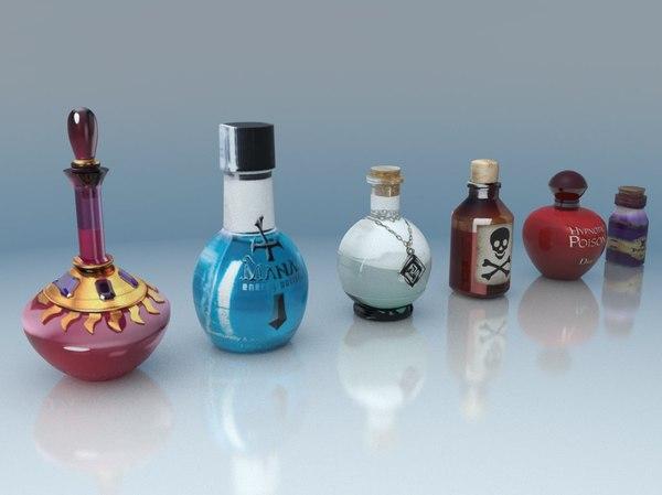 pack potion poison 3D