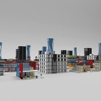 buildings pack 3D model