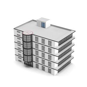 hospital building polys 3D