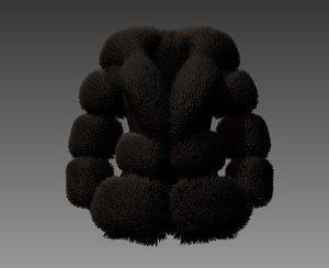 3D jacket fur