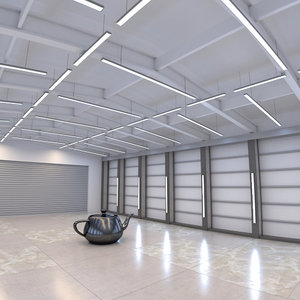 hangar environment 3D model