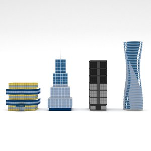 skyscrapers polys model