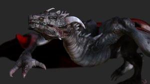 3D dragon animal dinosaur model