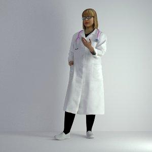 3D model scanned woman 006