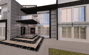 modern residential villa 3D model