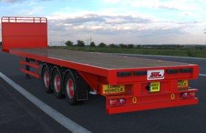 3D model sdc flatbed trailer