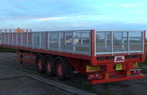 3D sdc flatbed trailer