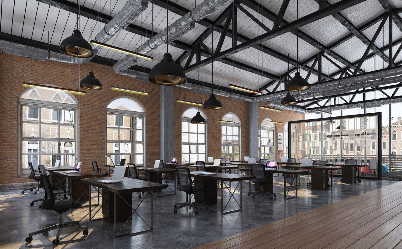 Industrial office open d model turbosquid