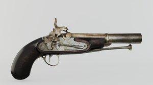 3D model gun old