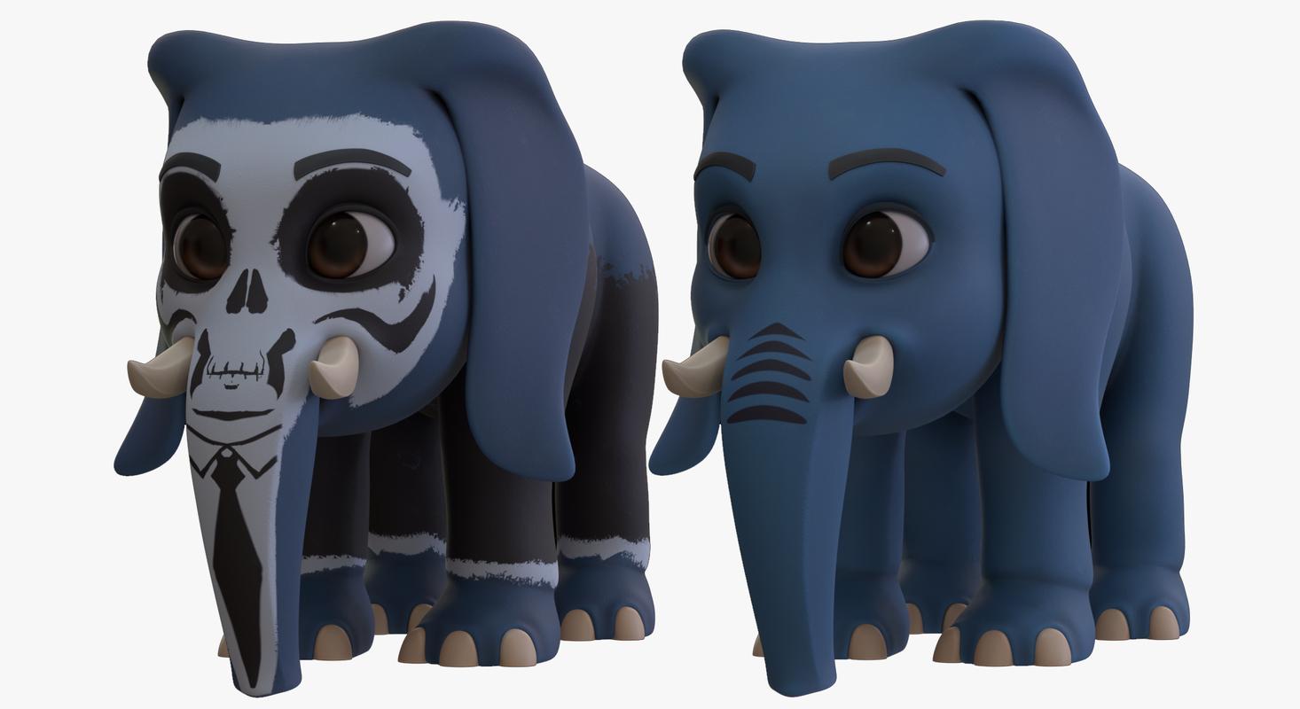3D cartoon elephant - boy