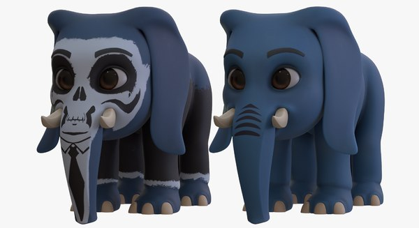 3D cartoon elephant - boy