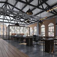 industrial office open 3D model