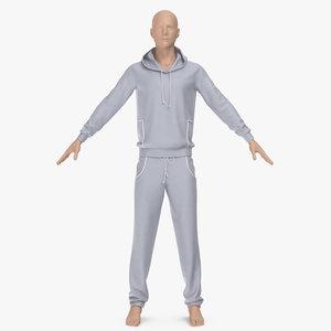 3D men s sportswear model