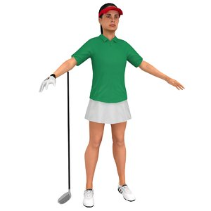 3D female golf
