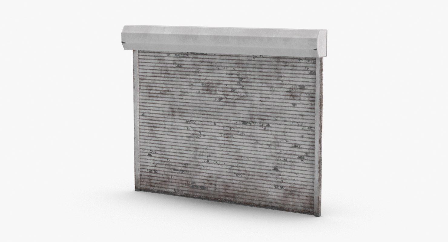 storefront-rolling-gate---gate-02-dirty 3D model