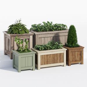 prestige traditonal planter 3D model