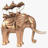 3D elephant howdah model