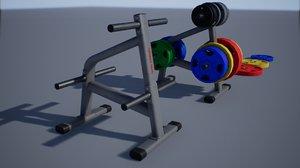 3D pbr bumper plate storage model