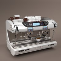 La spaziale Coffee Machine White 2 group