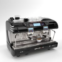 La spaziale Coffee Machine Black 2 group