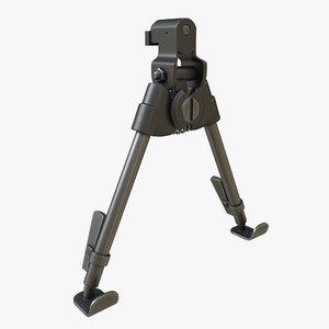 3D model realistic l96a1 bipods 01
