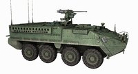 M1126 Stryker ICV APC Game Ready PBR Model 178K
