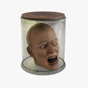preserved head 3D model