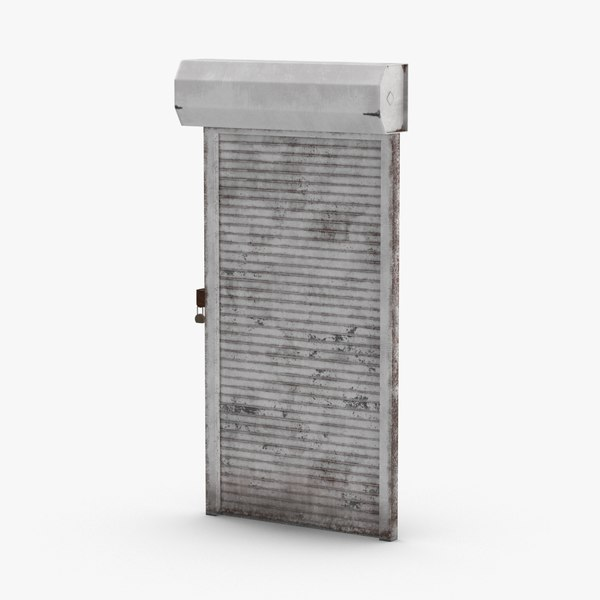 storefront-rolling-gate---gate-01-dirty 3D model
