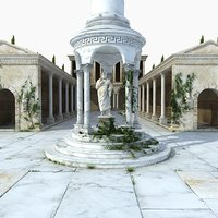 ancient greek building architecture 3D model