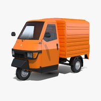 3D model piaggio ape 50 box