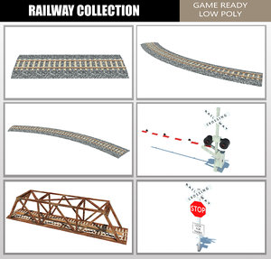 games railroad crossing 3D model
